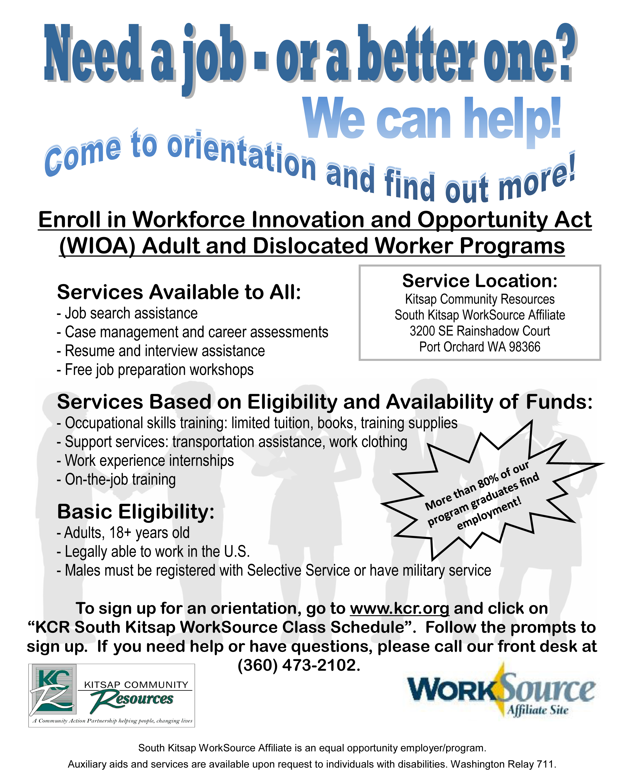 Employment Assistance Kitsap Community Resources